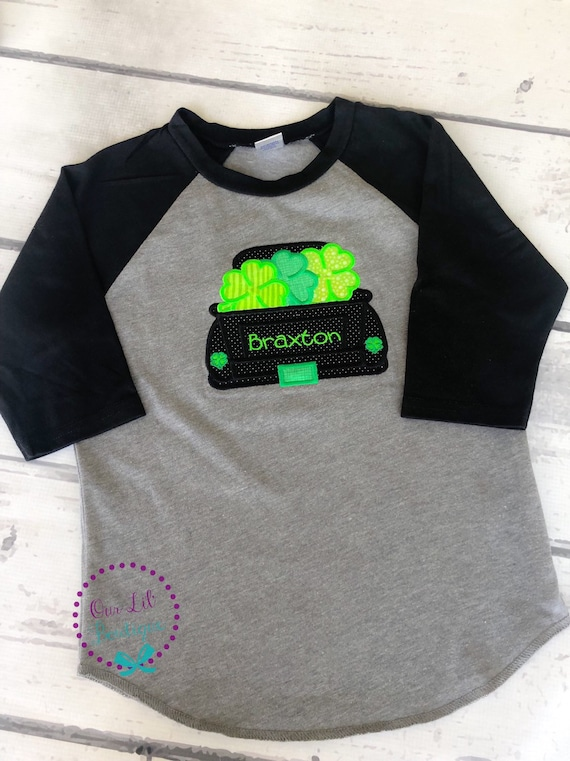 699d57cd St. Patrick's Day Truck Shirt - Personalized Shamrock Shirt - Boys Shamrock  Shirt - Truck - Clover - Monogram Truck - Boys St. Patricks Day