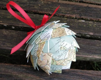 New Zealand Map Ornament Or CHOOSE YOUR PLACES Unique Gift For Christmas Birthday First Anniversary Holiday Sports Men Women