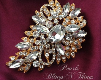 Lovely Diamante Brooches Pack Of 6 Wedding Bridal Bouquet Decoration Jewellery Fashion Jewelry Jewelry & Watches