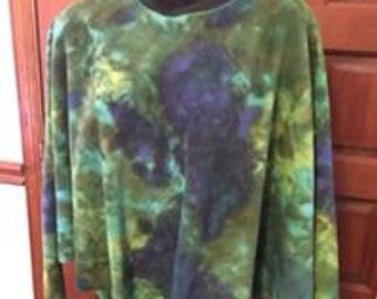 Tie dye Fleece Poncho