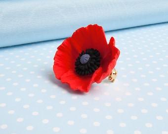 Poppy Brooch Pin