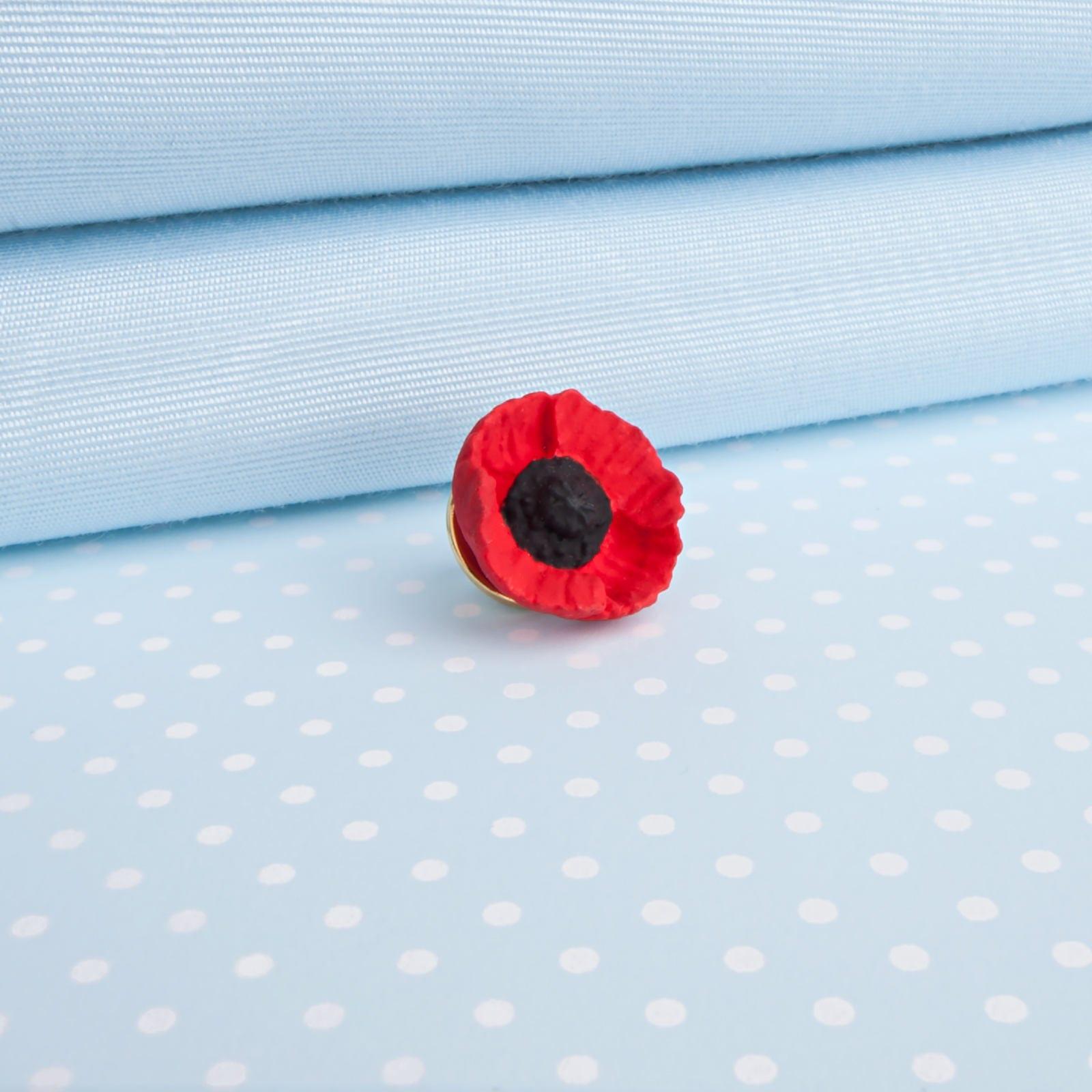 Small Poppy Lapel Pin Etsy