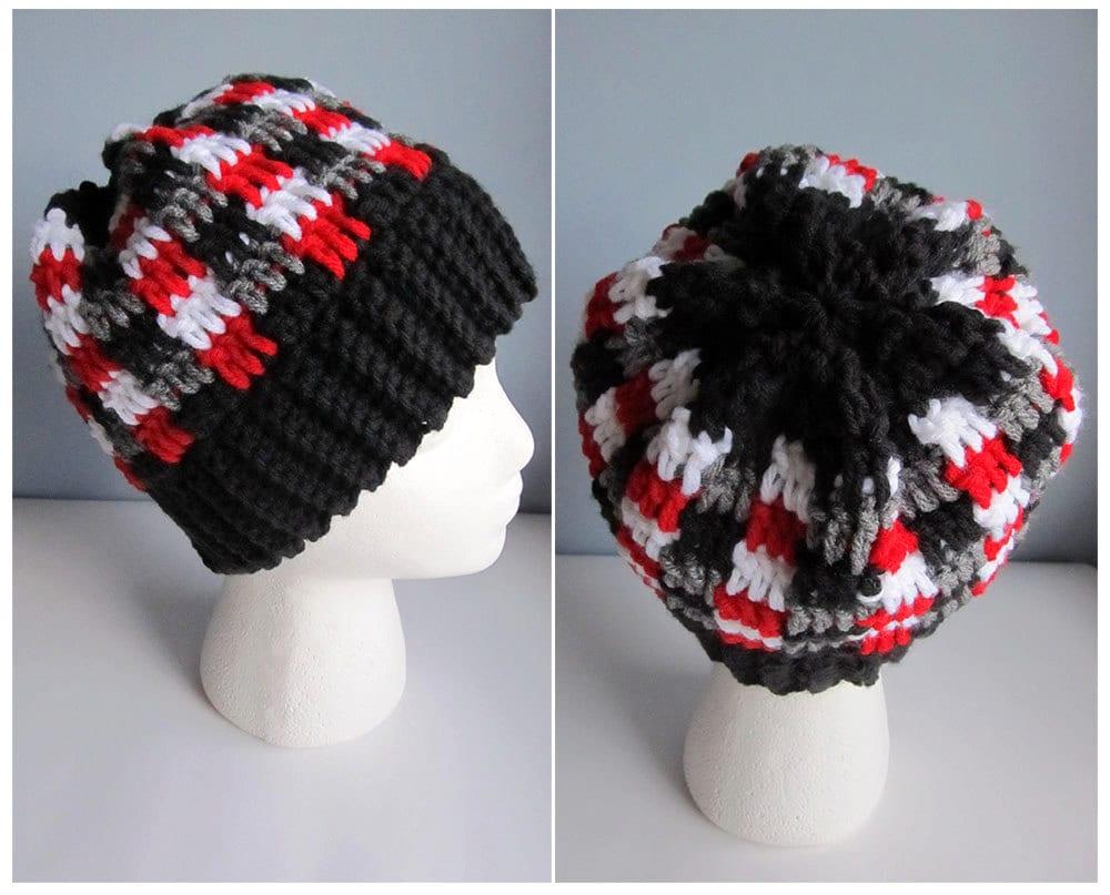 Unisex Hat Crochet Pattern Pattern For Crochet Hat Chevron Etsy