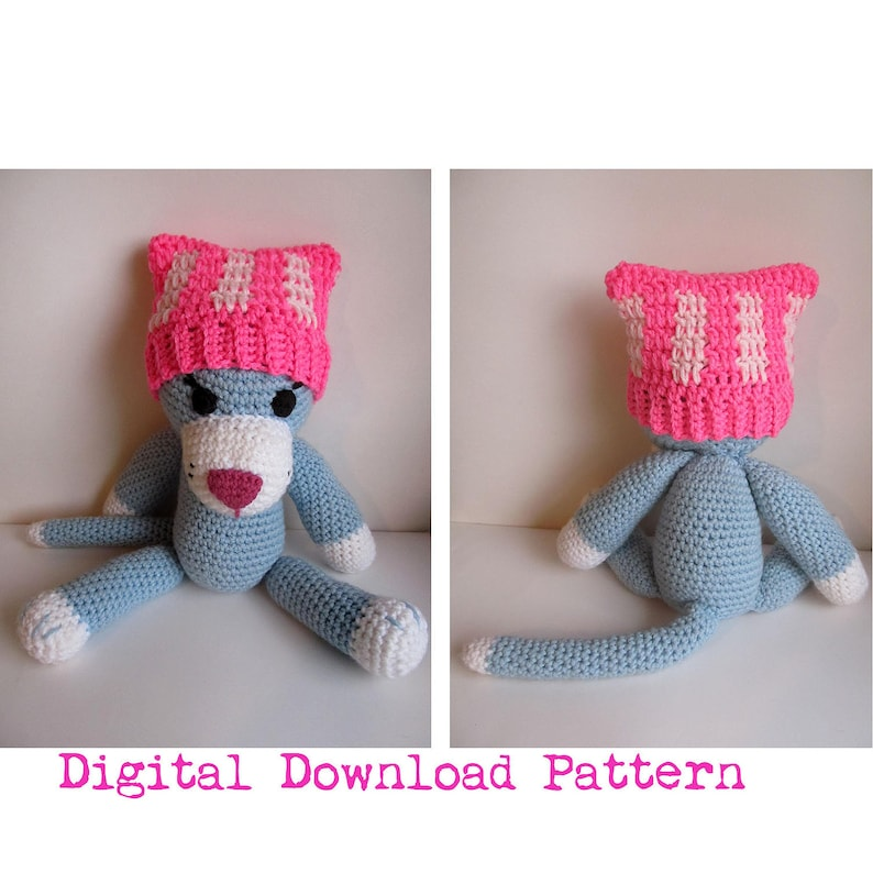 77391031b1f Crochet Newborn Pussyhat Digital Download PATTERN  Cat Ear Baby Hat ...