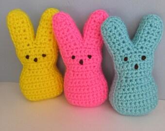 PATTERN Crochet Peeps / Crochet Easter Peeps Pattern / Crochet Easter Bunny / Peep Marshmallow Bunny Pattern / Crochet Peeps Pattern