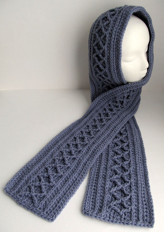 Crochet Scarf Pattern Diamond Cable Scarf Long Scarf To Etsy