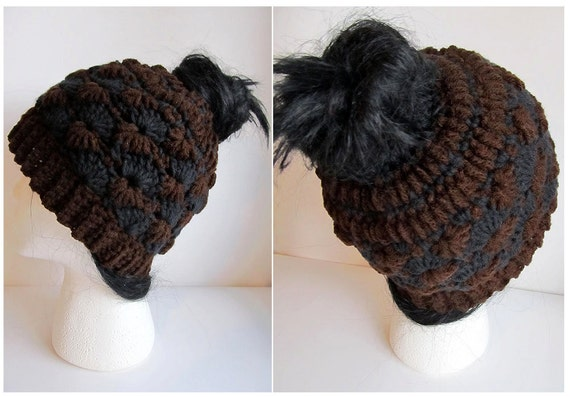Messy Bun Hat Crochet Pattern Pattern For Crochet Ponytail Etsy