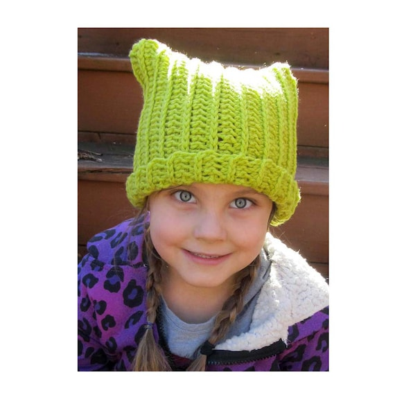 Crochet Cat Ear Hat Digital Download Pattern Cat Ear Hat Etsy