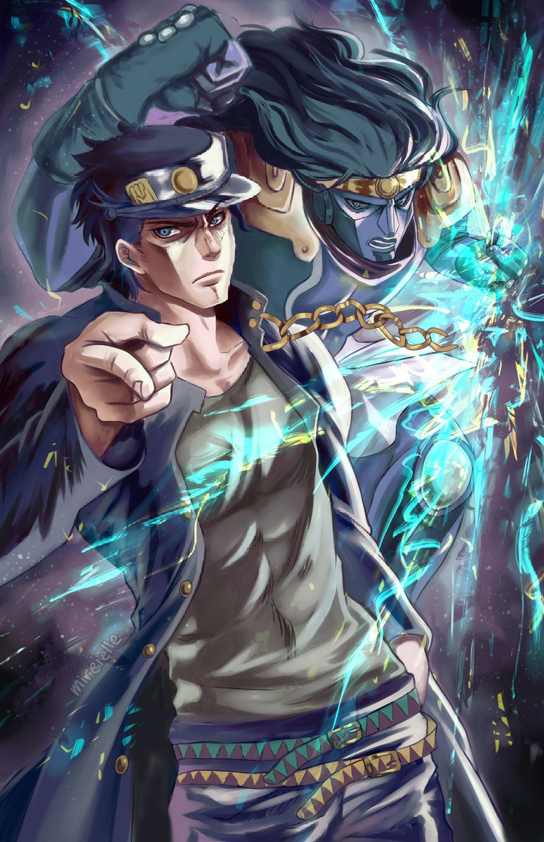 Anime Prints Jotaro Kujo Poster Print Fanart Wall Art Jojo Anime Gifts  Adventure Home Decor Star Platinum Stand artwork wallart