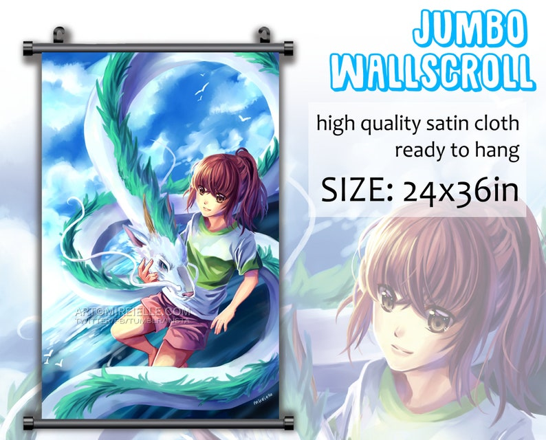 Spirited Away Anime Wall Art Home Decoration Scroll Poster
