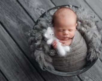 NEW COLORS !!! Long knit alpaca wraps Newborn wrap Stretch knit baby wrap Newborn photography wrap Gray knit baby wrap Newborn photo prop
