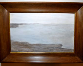 """Original Encaustic Painting - """"Blue Haze No. 1"""""""