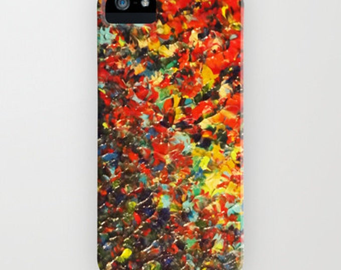 END of THE RAINBOW Bold Colorful Ombre iPhone 8 X Xr Xs 11 Pro Max Case Samsung Galaxy Case Cover Red Black Yellow Abstract Art Ocean Waves