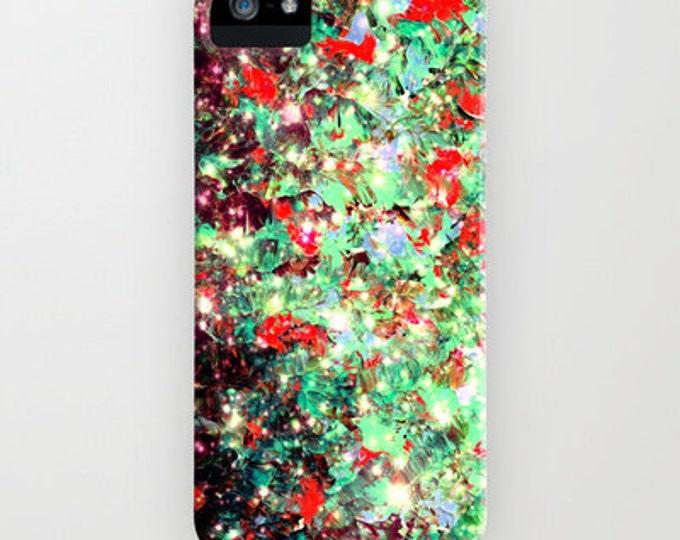 MISTLETOE NEBULA Christmas Red Green Abstract iPhone 12 Pro Max X Xr Xs 11 Pro Case Samsung Galaxy Case Art Galaxy Space Xmas Festive Stars