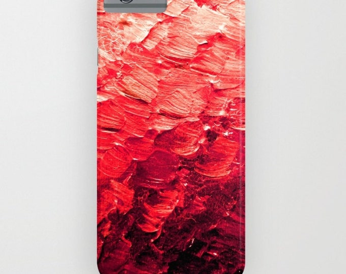 MERMAID SCALES 4, Red iPhone 11 Pro Max Case iPhone 8 X Xr Xs Max Samsung Galaxy S10 S20 S21 Colorful Feathers Ocean Ombre Abstract Painting