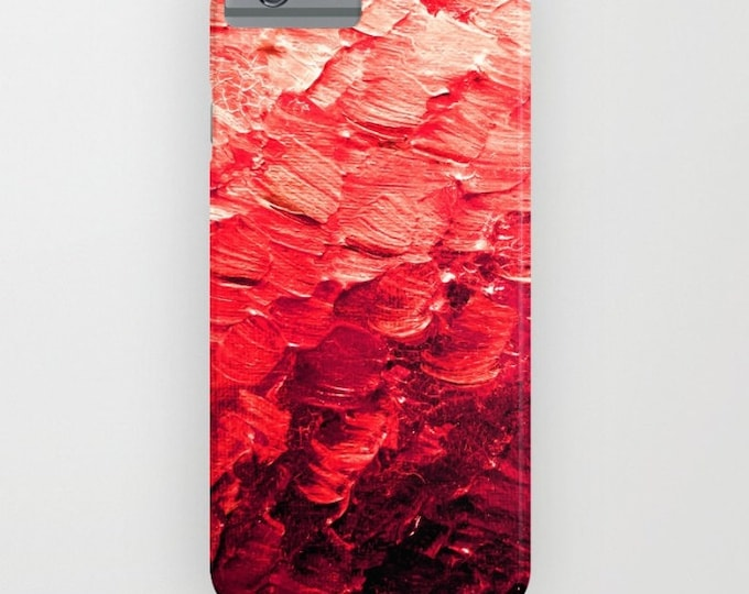 MERMAID SCALES 4, Red iPhone 11 Pro Max Case iPhone 7 8 X Xr Xs Max Samsung Galaxy Plastic Colorful Feathers Ocean Ombre Abstract Painting