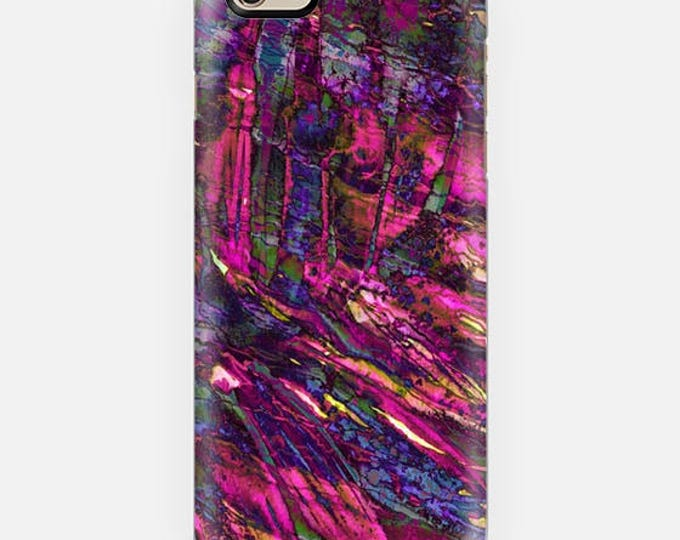 ENTRANCED 4 Magenta Pink Purple iPhone 8 Plus X Xr Xs Max 11 Pro Samsung Galaxy Case Summer Abstract Art Ocean Waves Mermaid Palm Botanical