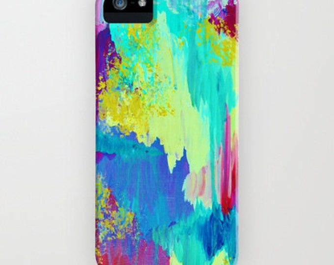 SUGARY GOODNESS Pastel Ikat iPhone 12 Pro Max 8 X Xr Xs 11 Case Samsung Galaxy Phone Cover Abstract Watercolor Chevron Painting Ocean Waves