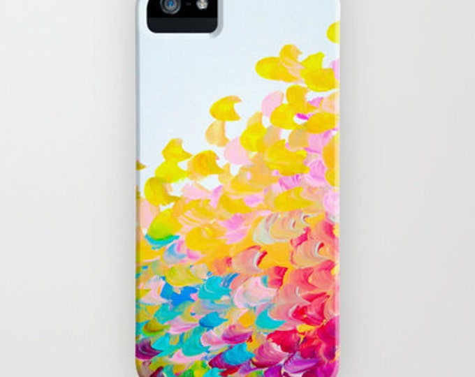 CREATION IN COLOR iPhone 7 8 X Xr Xs Max 11 Pro Case Samsung Galaxy Cover Colorful Ocean Waves Rainbow Splash Summer Art Abstract Painting