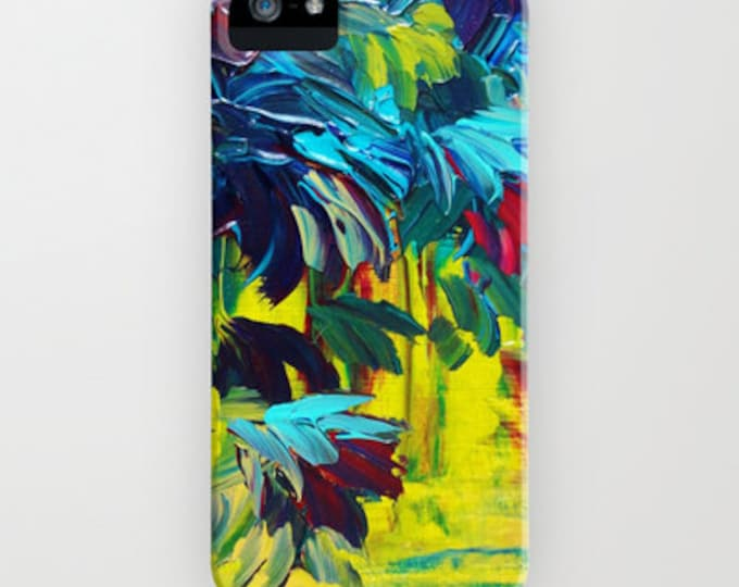 FLORA Abstract Colorful Floral iPhone 11 Pro Max Case iPhone 7 8 Plus X Xr Xs Samsung Galaxy Flowers Neon Citron Yellow Turquoise Burgundy