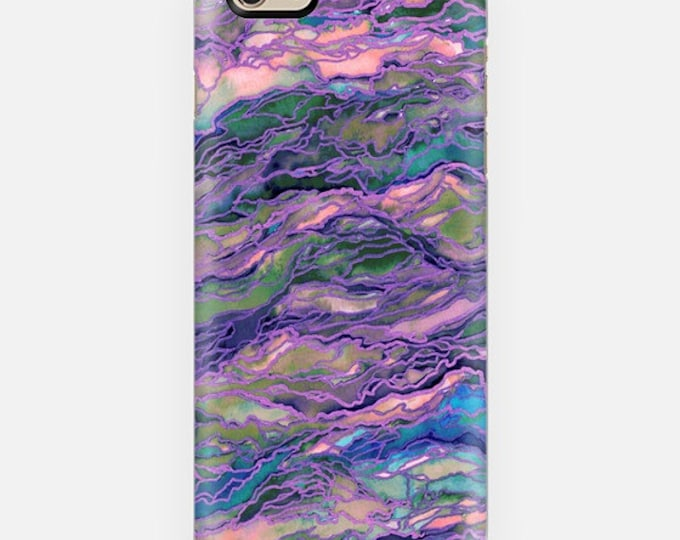 MARBLE IDEA Lavender Pink Girly Purple iPhone 11 12 Pro Case Samsung Galaxy S10 S20 S21 Samsung Note Agate Geode Swirls Abstract Watercolor