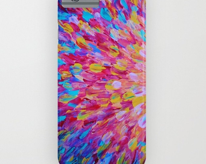 SPLASH, Revisited Girly iPhone 12 Pro Max 8 X Xs Xr 11 Case Samsung Galaxy Feminine Ocean Beach Waves Magenta Pink Turquoise Blue Crimson
