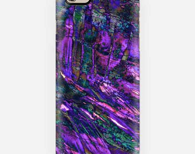 ENTRANCED 3 Violet Purple iPhone 7 8 X Xr Xs Max 11 Pro Case Samsung Galaxy Case Abstract Ocean Waves Mermaid Teal Royal Blue Turquoise Plum