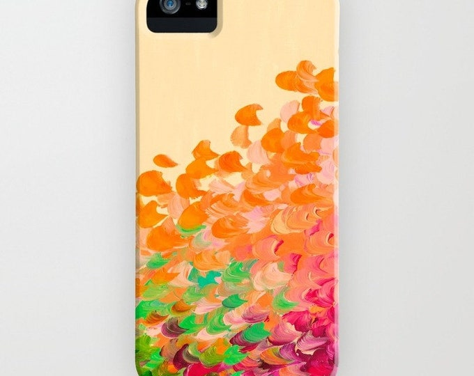 CREATION in COLOR Autumn Infusion iPhone 5 6 7 8 X Xr Xs 11 Max Case Samsung Galaxy Colorful Ocean Orange Green Red Fall Splash Abstract Art