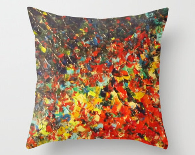 STYLISH PILLOW COVER Rainbow Ombre 16x16 18x18 20x20 Colorful Throw Cushion Cover, Modern Abstract Painting Design Lucky Art Home Decor Gift
