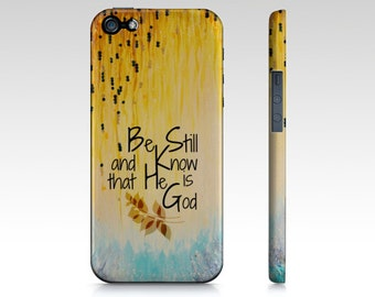 BE STILL & Know God Christian Jesus Scripture iPhone 7 8 X Xr Xs 11 Pro Case Samsung Galaxy Garden Floral Psalm Faith Belief Religious Bible