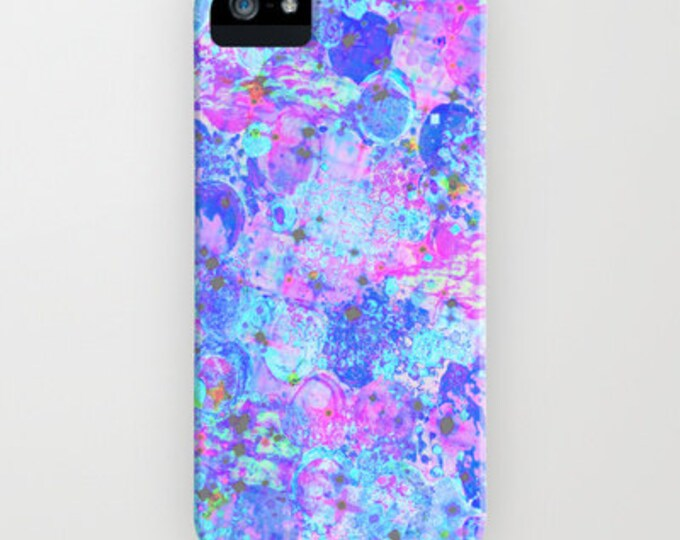 TIME For BUBBLY iPhone X 11 12 Case Samung Galaxy S10 S20 S21 Cover, Samsung Note Girly Pastel Turquoise Blue Pink Purple Abstract Painting