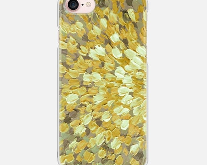SPRING SPLASH Golden Yellow Gray, Colorful Ocean Waves iPhone 7 8 X Xr Xs 11 Pro Max Case Samsung Galaxy S7 S8 S9 Plus Abstract Art Painting