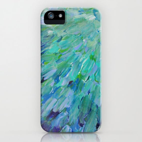 SEA SCALES Ocean iPhone 5 SE 6 7 8 Plus X Xr Xs Max Case Samsung Galaxy Phone Cover Art Colorful Mermaid Tail Feathers Abstract Painting