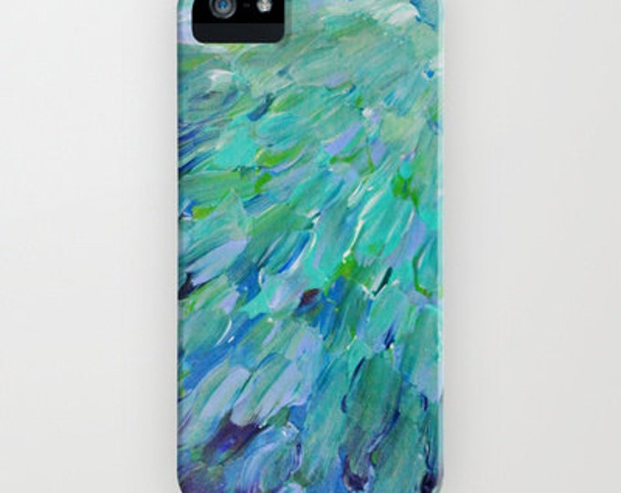 SEA SCALES Ocean iPhone 12 Pro Max Case iPhone 11 8 X Case Samsung Galaxy S10 S20 S21 Phone Cover Colorful Mermaid Feathers Ombre Painting