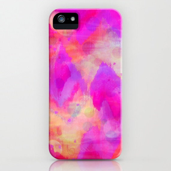 BOLD QUOTATION, Revisited Girly Pink iPhone 5 SE 6 6s 7 8 X Xr Xs Max Case Samsung Galaxy Raspberry Chevron Abstract Watercolor Ikat Pattern