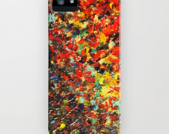 END of THE RAINBOW Bold Colorful Ombre iPhone X 11 Pro Max Case Samsung Galaxy S10 S20 S21 Case Cover Red Black Yellow Abstract Ocean Waves