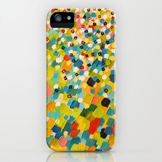 SWEPT AWAY 3 Bold Colorful iPhone 5 6 7 8 X Xr Xs Max Samsung Galaxy Case Plastic Cover Stylish Original Abstract Acrylic Painting Design