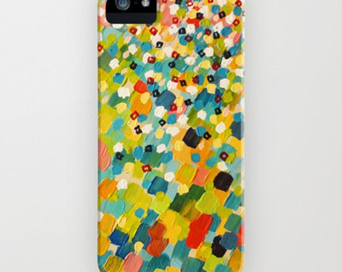 SWEPT AWAY 3 Bold Colorful iPhone 7 8 X Xr Xs 11 Pro Max Samsung Galaxy Case Plastic Cover Stylish Original Abstract Acrylic Painting Design