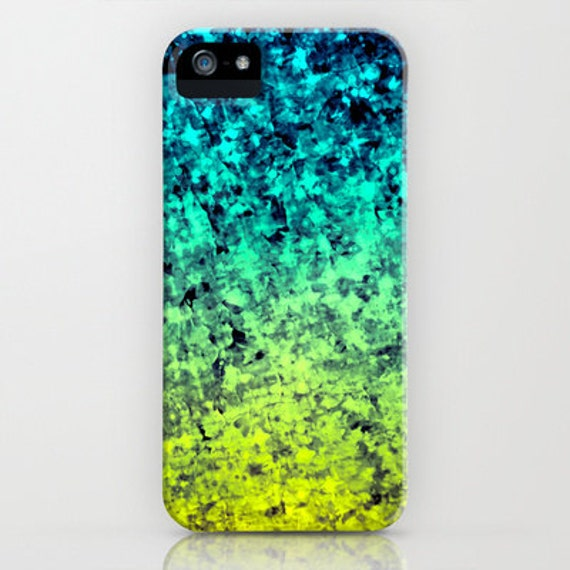 OMBRE LOVE Ocean Colorful iPhone 5 SE 6 6s 7 8 Plus X Xr Xs Max Case Samsung Galaxy Beach Waves Navy Blue Mint Green Citron Acid Yellow