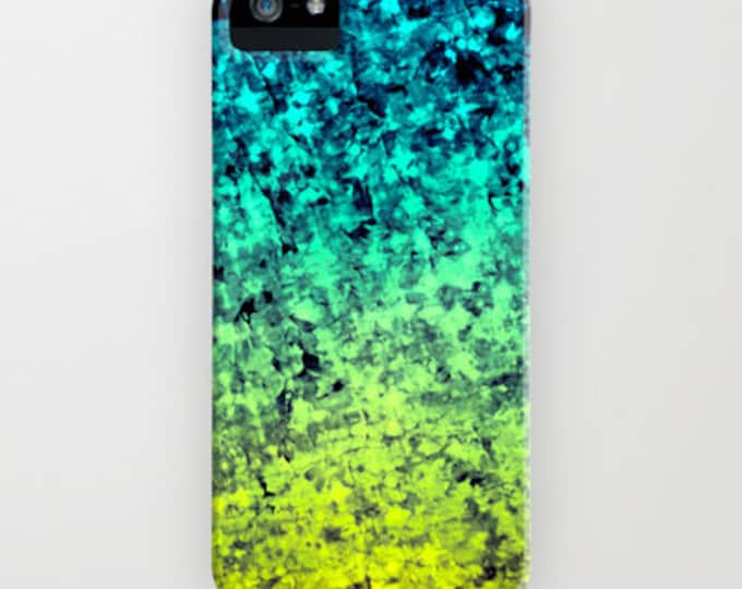 OMBRE LOVE Ocean Colorful iPhone 7 8 Plus X Xr Xs iPhone 11 Pro Max Case Samsung Galaxy Beach Waves Navy Blue Mint Green Citron Acid Yellow