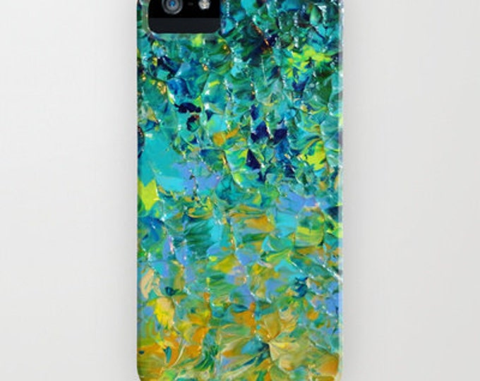 Beauty Beneath the Surface Green Ombre iPhone 8 X Xs Xr 11 12 Pro Case Samsung Galaxy Case Abstract Ocean Waves Teal Royal Blue Turquoise