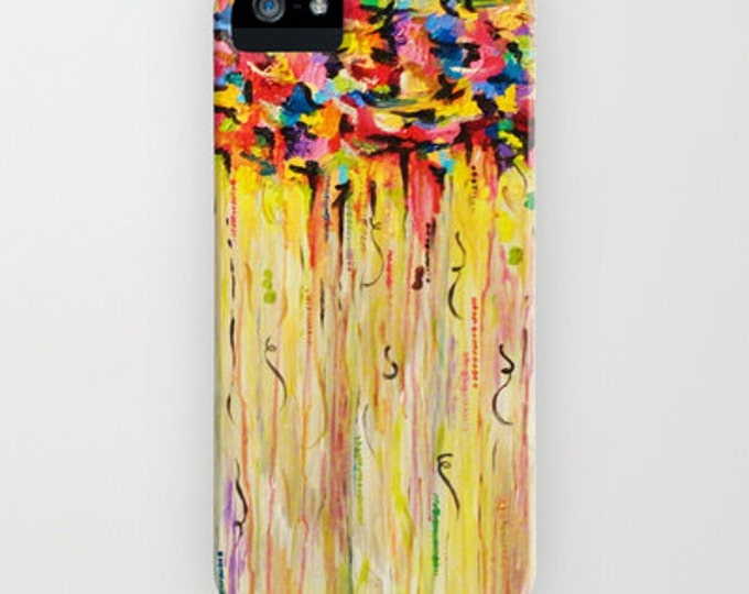 RAINING SUNSHINE Colorful iPhone 7 8 Plus X Xr Xs 11 Pro Max Case Samsung Galaxy S10 S20 S21 Case Protective Cover Clouds Abstract Painting