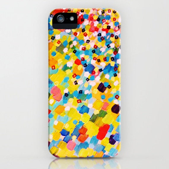 SWEPT AWAY 2 Rainbow Ocean Splash iPhone 5 SE 6 6s 7 8 Plus X Case Samsung Galaxy Cover Colorful Abstract Acrylic Painting Sea Art Waves