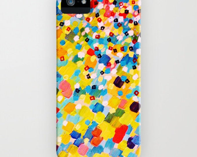 SWEPT AWAY 2 Rainbow Ocean Splash iPhone X Xs 11 12 Pro Case Samsung Galaxy S9 S10 S20 S21 Cover Colorful Polka Dots Painting Sea Art Waves