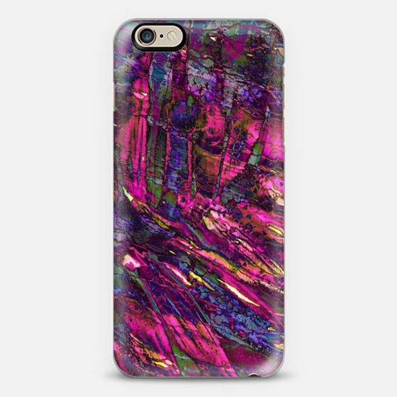 ENTRANCED 4 Magenta Pink Purple iPhone SE 6S 7 8 Plus X Xr Xs Max Samsung Galaxy Case Summer Abstract Art Ocean Waves Mermaid Palm Botanical