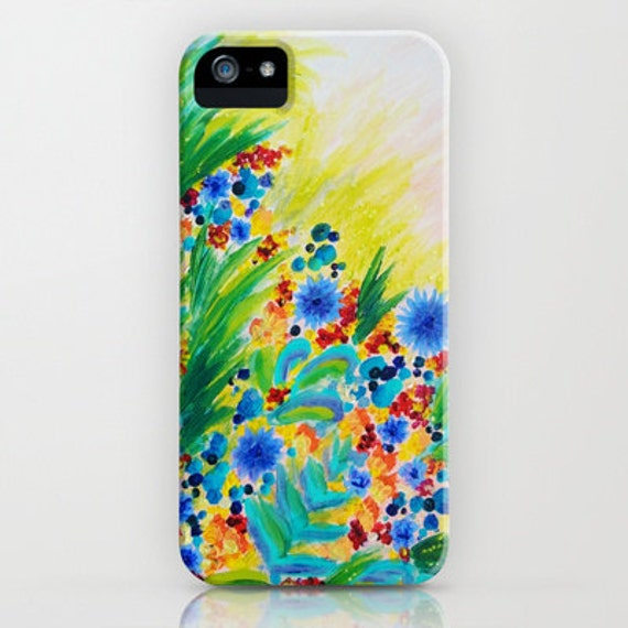 NATURAL ROMANCE Floral iPhone SE 6 7 8 X Xr Xs Xs Max Case Samsung Galaxy Hard Plastic Phone Cover Garden Abstract Flowers Acrylic Painting