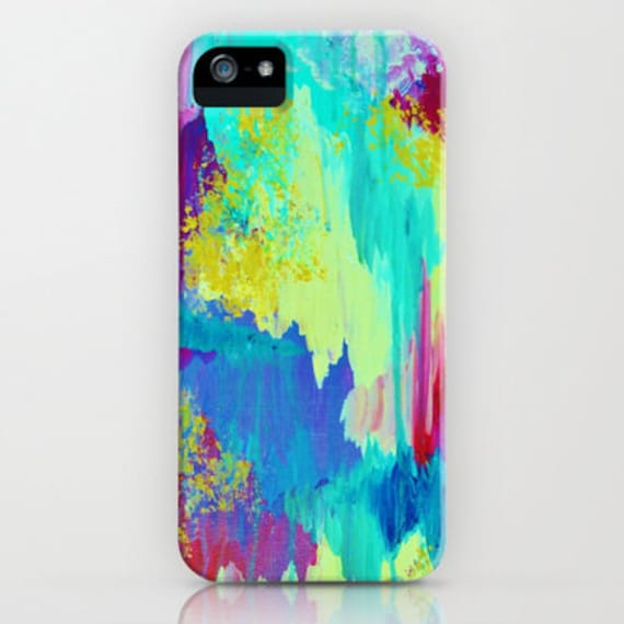 SUGARY GOODNESS Pastel Ikat iPhone 5 SE 6 7 8 X Xr Xs Max Case Samsung Galaxy Phone Cover Abstract Watercolor Chevron Painting Ocean Waves