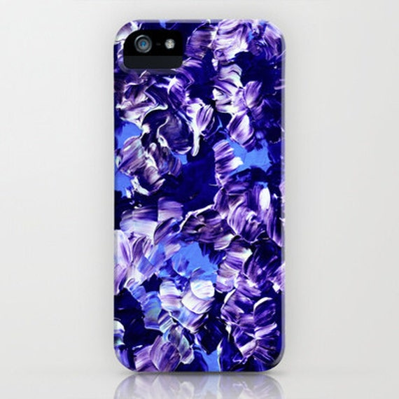 FLORAL FANTASY 2 iPhone 5 SE 6 7 8 X Xr Xs Max Case Samsung Galaxy Note Purple Blue Abstract Floral Girly Flower Pattern Gift Her Cell Cover