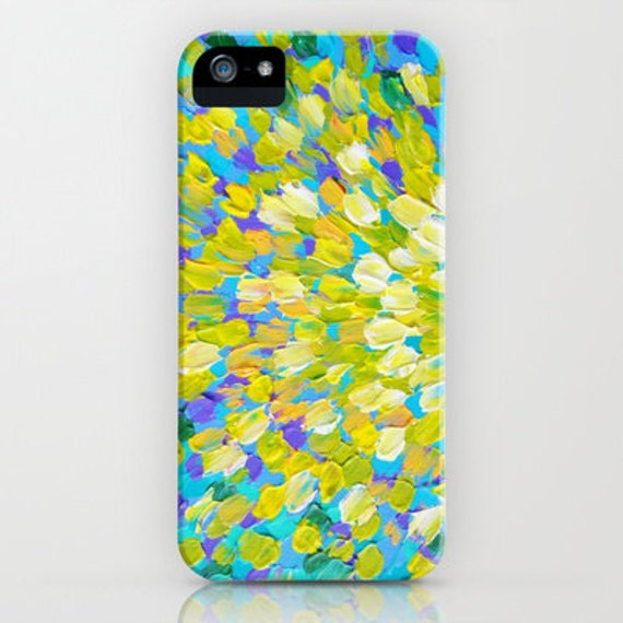 SPLASH 2 Colorful Ocean Splash iPhone SE 6 7 8 X Xr Xs Max Case Samsung Galaxy Cover Turquoise Lemon Yellow Cream Abstract Acrylic Painting