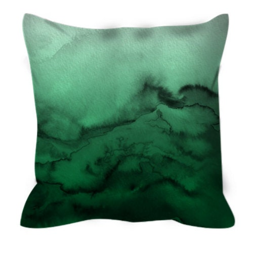 Pleasant Winter Waves 7 Green Ombre Watercolor Art Suede Throw Andrewgaddart Wooden Chair Designs For Living Room Andrewgaddartcom